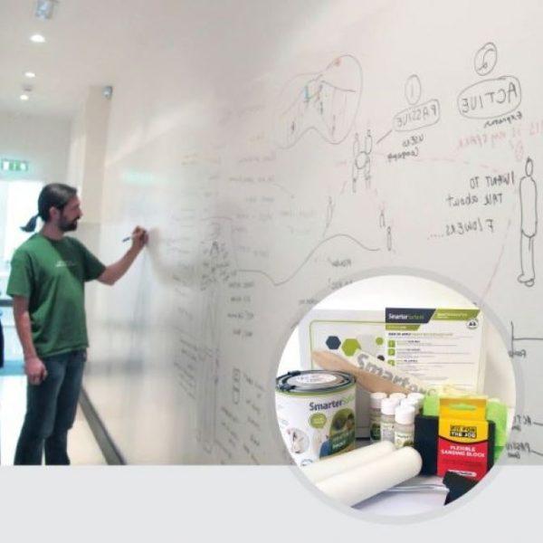 Smart-Whiteboard-Farbe-Weiss-Produkt-in-Verwendung-und-Kit-Bild
