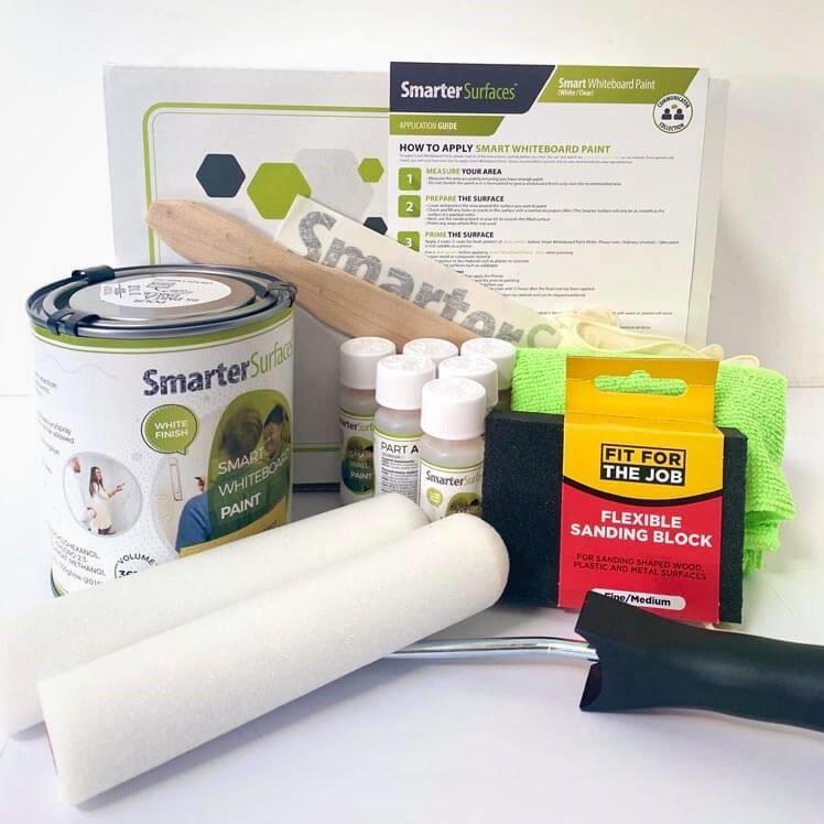 Smart-Whiteboard-Farbe-Weiss-komplettes-Kit-mit-Anwendungsanleitung