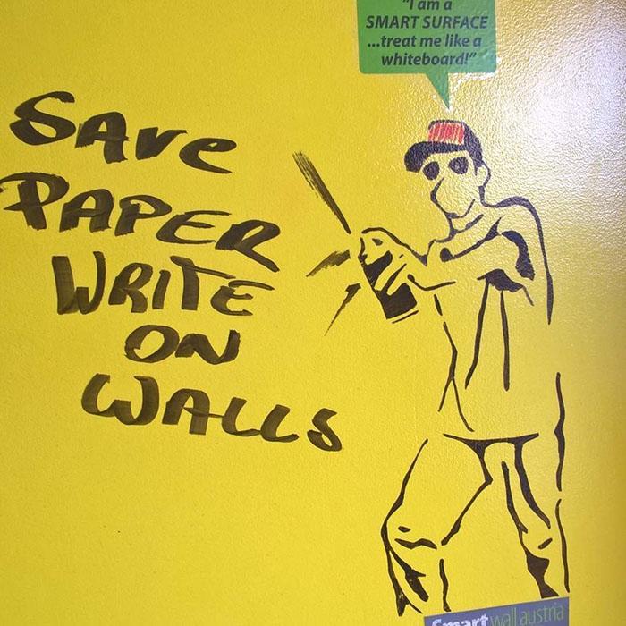 Smart Whiteboard Wandfarbe Transparent Sprayer Aufruf auf Wänden schreiben