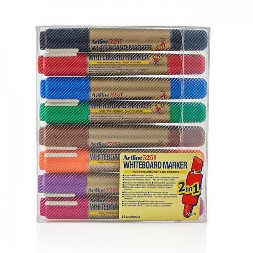 Packung von 8 Artiline Whiteboard Stiften unterschiedliche Farben