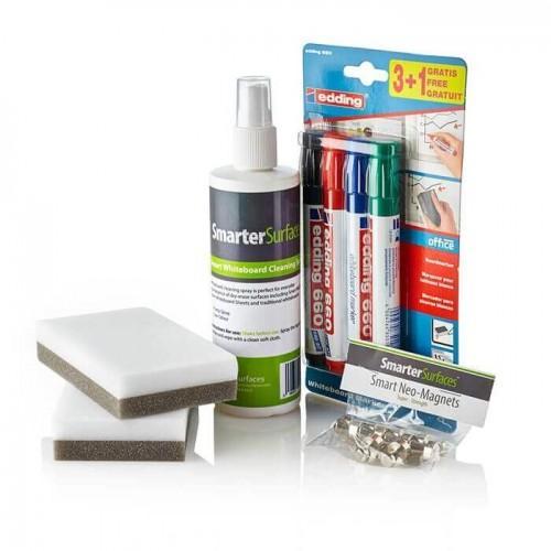 Smarter Surfaces Magnetisches Whiteboard Zubehör Set