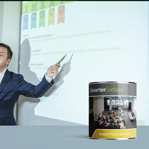 Smart Leinwandfarbe Wand Produktbild Kombination