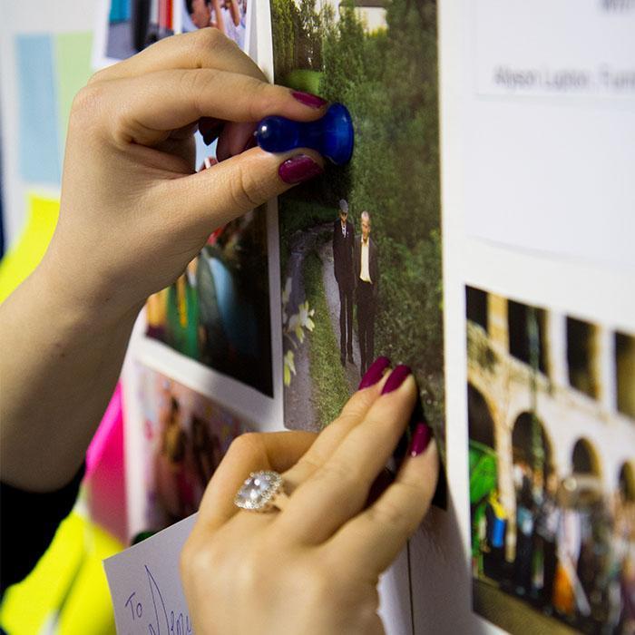Smart Magnetfarbe zum Anbringen von Fotos Notizen