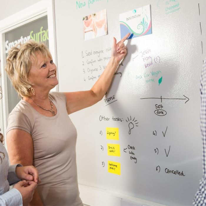 Smart Magnetische Whiteboard Farbe Transparent für Büroräume