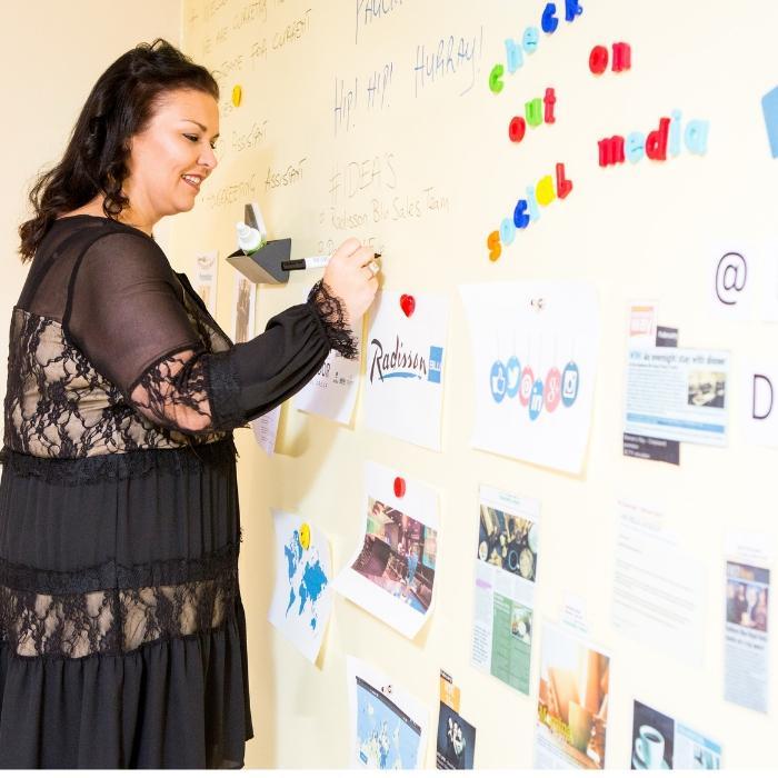 Smart Magnetische Whiteboard Farbe Transparent für Präsentationen Notizen
