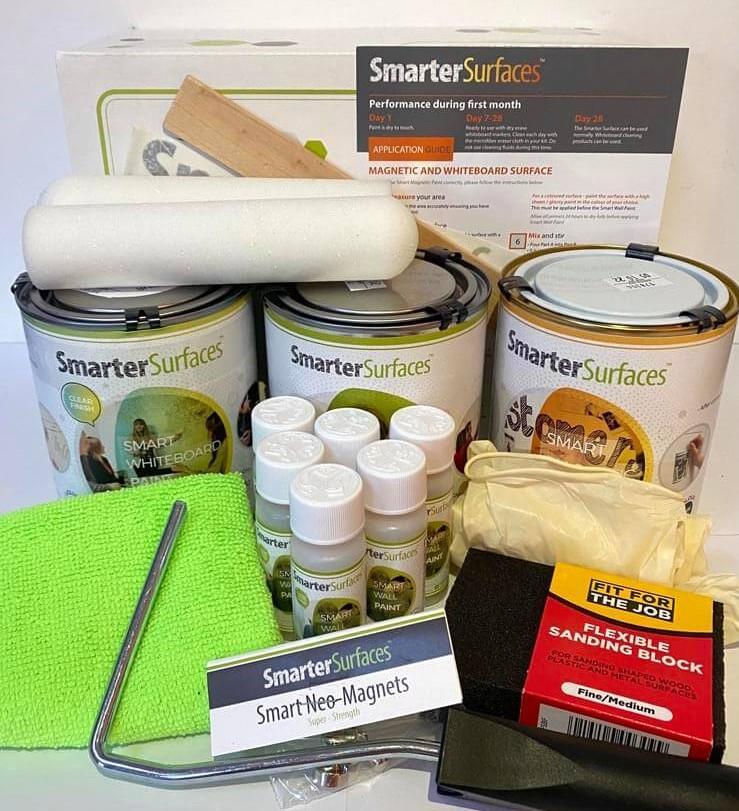 Smart-Magnetische-Whiteboard-Farbe-Transparent-komplettes-Kit