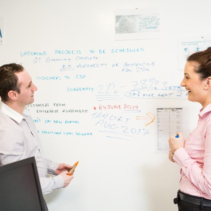 Smart Magnetische Whiteboard Farbe Weiß für Meetings Besprechungen