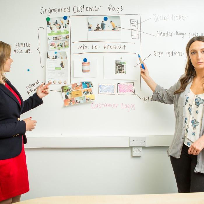 Smart Magnetische Whiteboard Farbe Weiß für Präsentationen