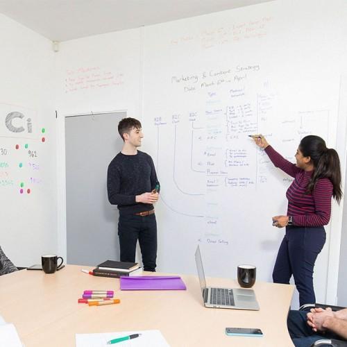 Smart Beamer Whiteboard für Präsentationen