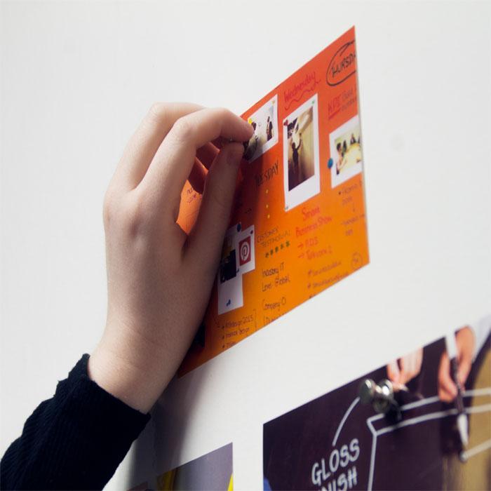 Smart Magnetische Tapete als Pinnwand für Bilder Notizen Zettel