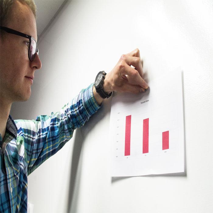 Smart Magnettapete als Präsentationswand