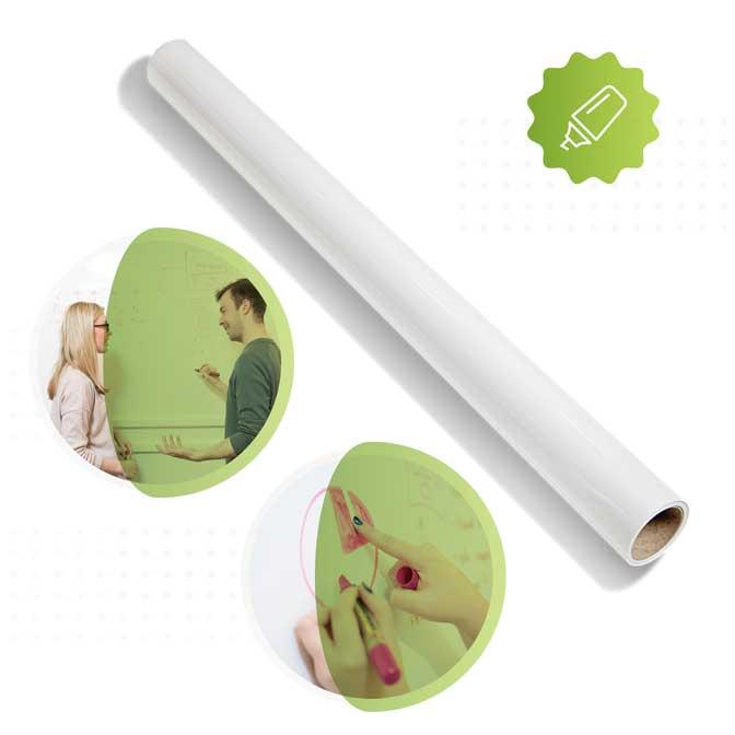rolle von smart whiteboard tapete in weiss von Smarter Surfaces