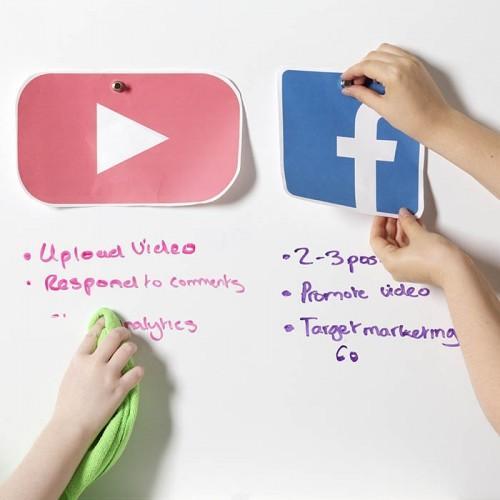 Smart Magnetische Whiteboard Beamer Tapete für Meetings zum Schreiben für Notizen