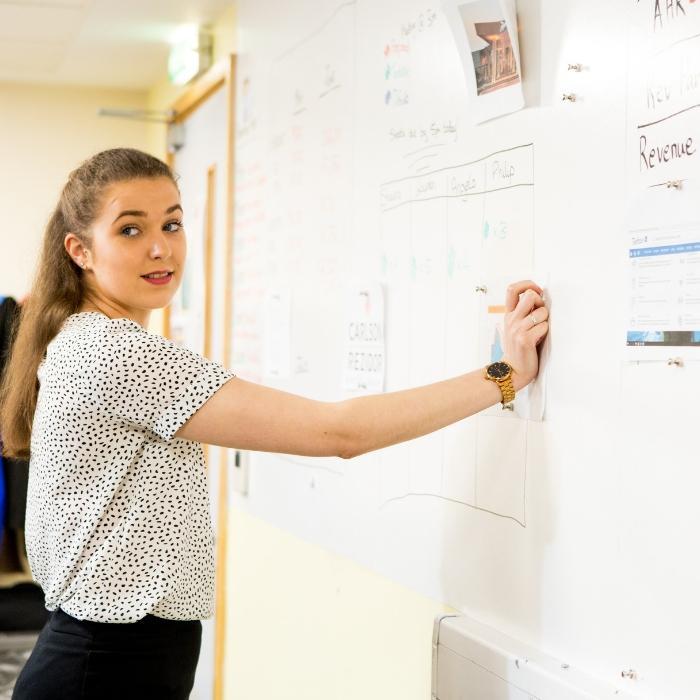 Smart Magnetische Whiteboard Tapete im Büro Arbeitspläne 1