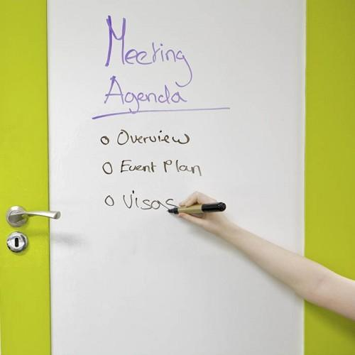 Smart Whiteboard Folie Weiß auf Tür