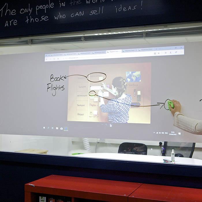 Smart Whiteboard Projektor Folie beschreibbar Beamer Oberfläche
