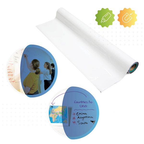 rolle von smart magnetischer whiteboard tapete von Smarter Surfaces