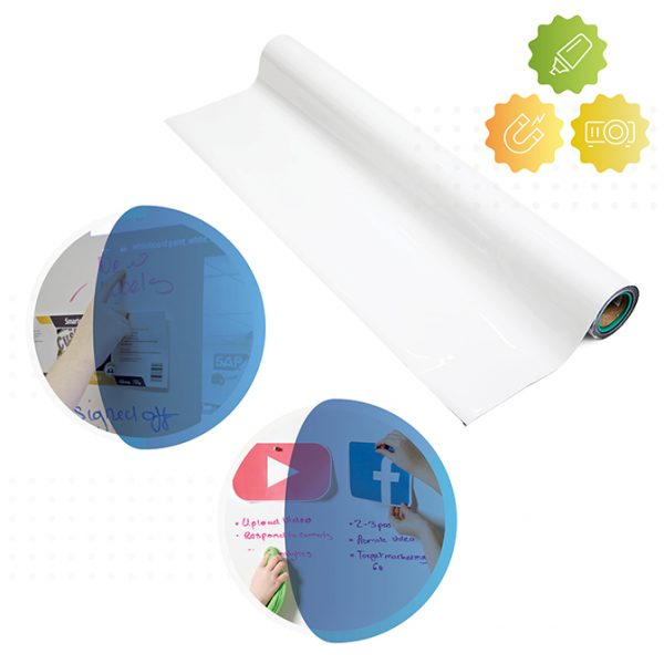 rolle von smart magnetischer whiteboard und leinwand tapete von Smarter Surfaces