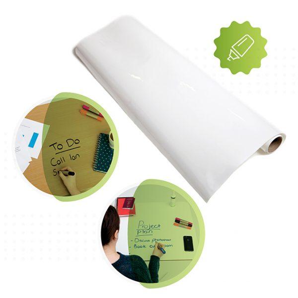 rolle von smart selbstklebende whiteboard folie in weiss von Smarter Surfaces