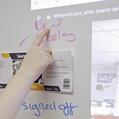 Smart Magnetische Whiteboard Beamer Tapete alle drei Funktionen gezeigt