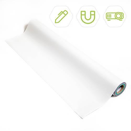 Smart Magnetische Whiteboard Beamer Tapete Produktbild mit Symbolen