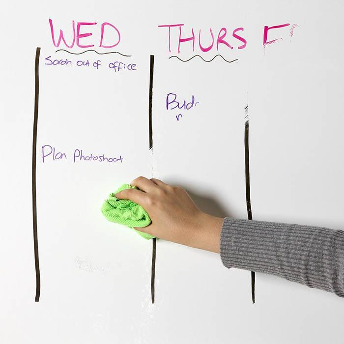 Smart Whiteboard Folie als Tafel auf Wand