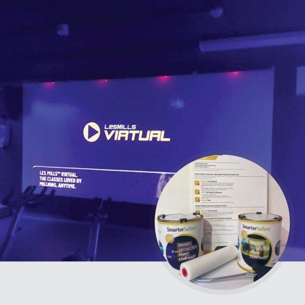 Smart-Leinwandfarbe-Kontrast-Bildschirm-in-Verwendung-mit-komplettem-Kit-auf-Anzeige-