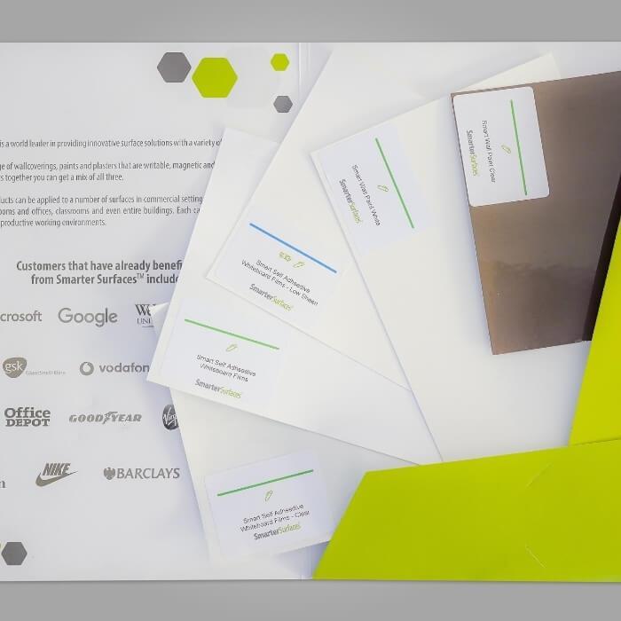 Selbstklebende Whiteboardfolien Produktmuster Pack Inhalt