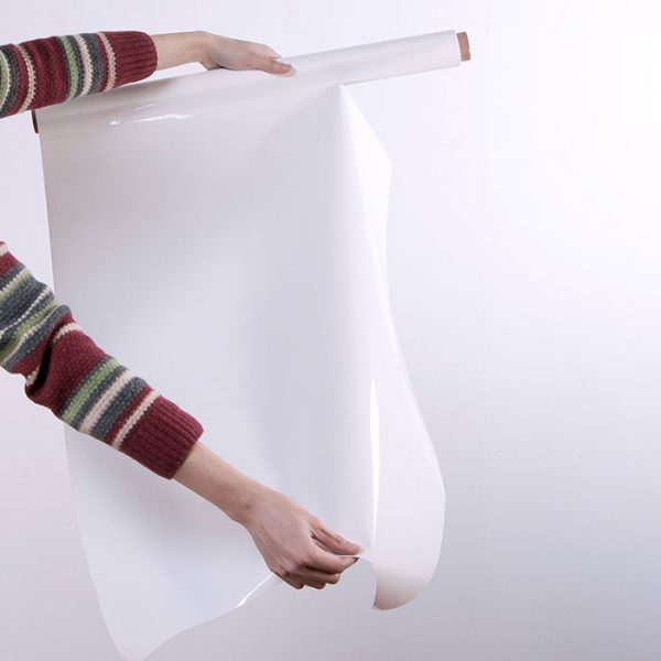 Smart Whiteboard Sheets Wandaufkleber Produktbild Rolle geöffnet