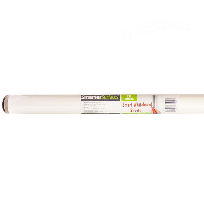 Smart Whiteboard Sheets Wandaufkleber Produktbild mit Verpackung