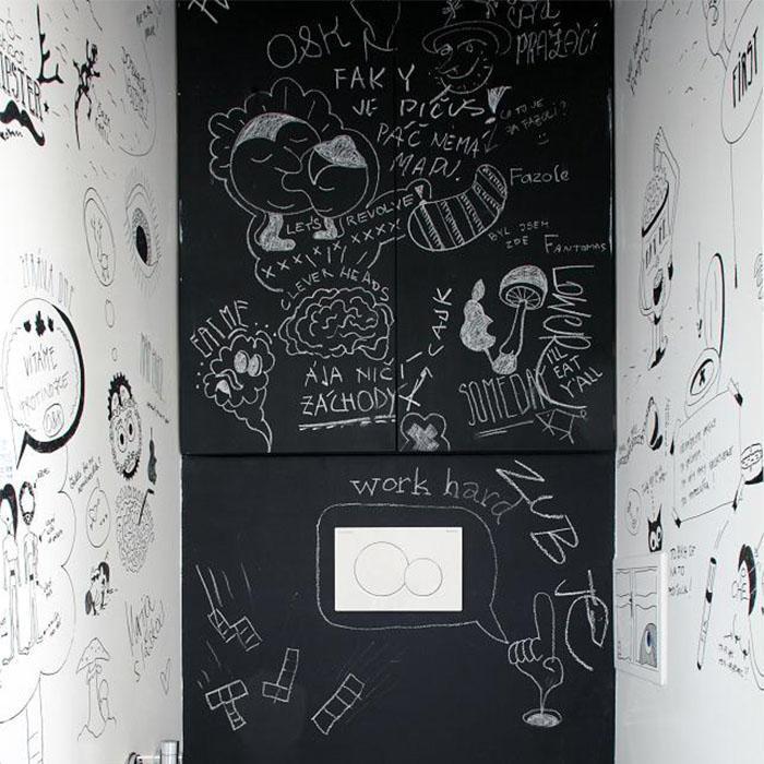 Smart Schwarze Tafelfarbe für Notizen, zum Malen, für Kunst