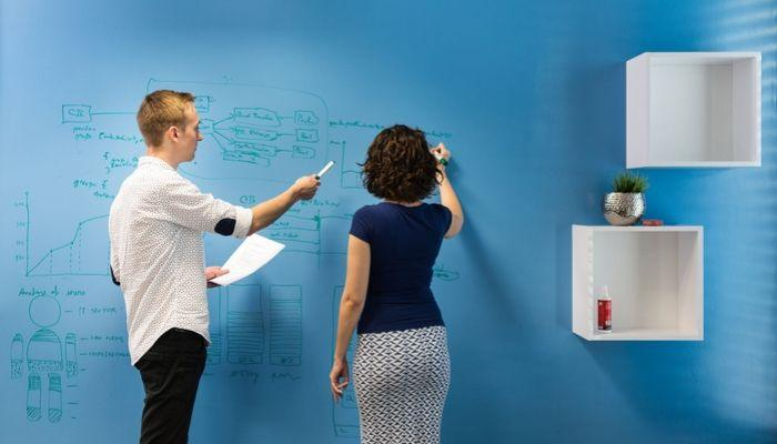 Whiteboard-Farbe-beschreibbare Wände-praktische-Wand-Meeting