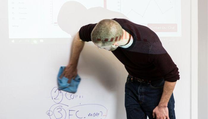 Whiteboard-Wand-Projektionen-Magnetisch-funktionale-Fläche-Meeting-Büro