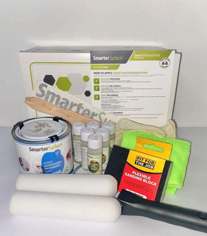 Der komplette Lieferumfang der Smart Antimikrobielle Whiteboard Farbe