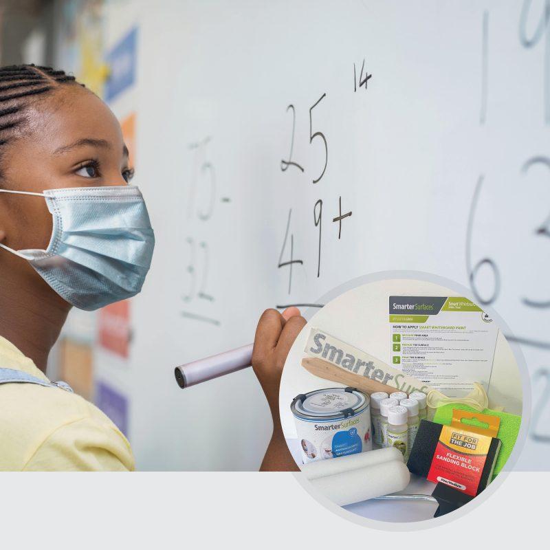 Smart-Antimikrobielle-Whiteboard-Farbe-Maedchen-mit-Maske-und-Produktinhalt
